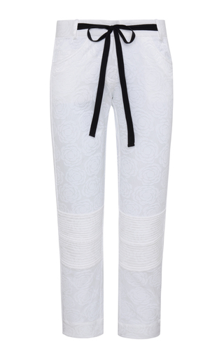 Medium adriana iglesias white farrah jacquard pants