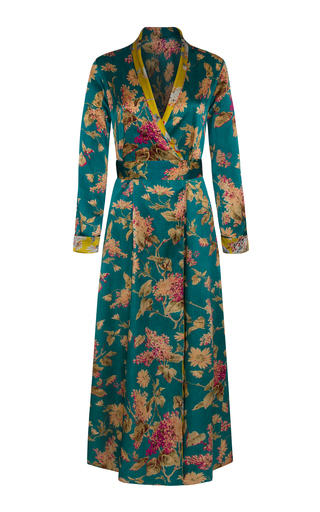 Medium adriana iglesias print waldorf long reversible dress