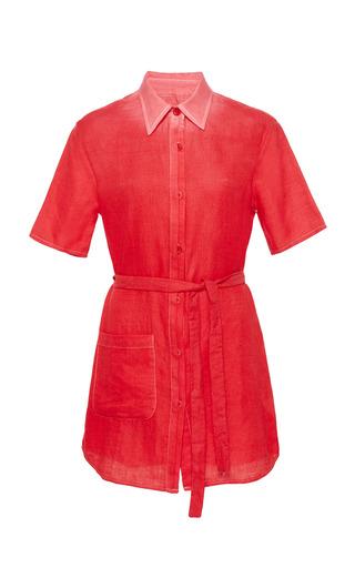 Medium the elder statesman red belted pashmina shirt dress