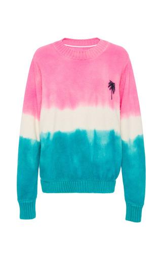 Medium the elder statesman pink dyed palm tree sweater