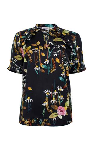 Medium baum und pferdgarten print meda ruffle blouse