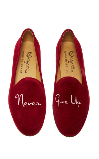 Medium del toro burgundy m o exclusive never give up slipper