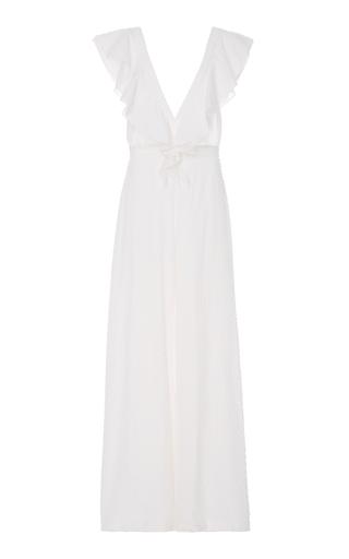 Medium lein white elsie jumpsuit