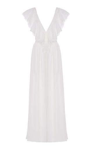 Medium lein white bonnie lynn tea dress