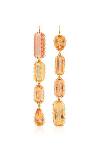 Medium renee lewis brown antique gem topaz earrings