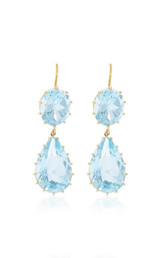 Medium renee lewis blue antique aquamarine earrings