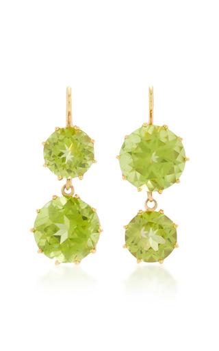 Medium renee lewis green antique peridot earrings