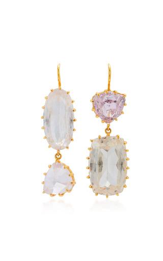 Medium renee lewis pink antique kunzite earrings