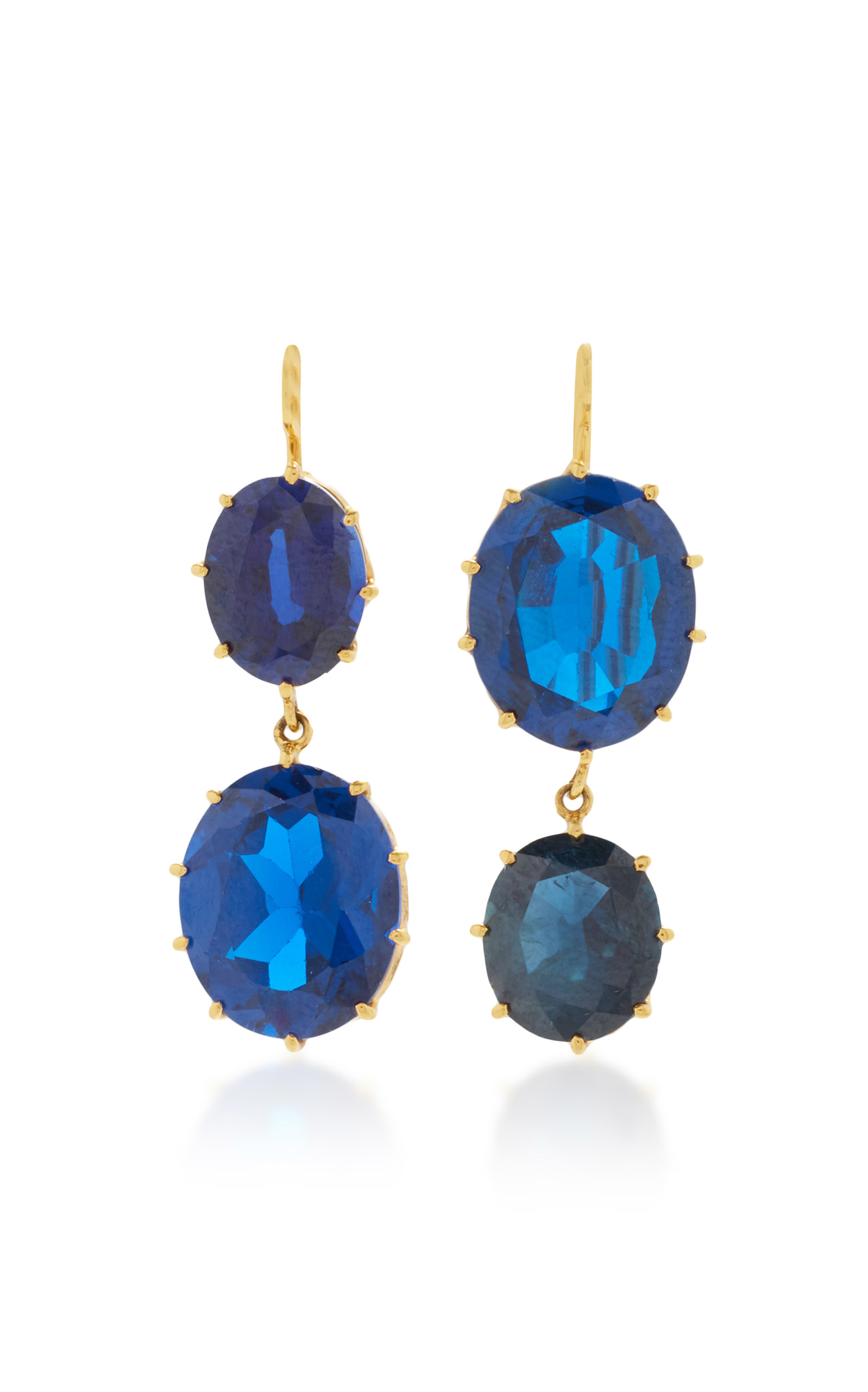 corundum halo stud jewelry a sapphire blue natural diamond cushion white free sapphires ladies post watches earrings accents overstock product and today with cut gold shipping