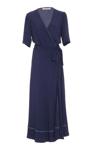 Medium sissa navy ariana v neck wrap dress