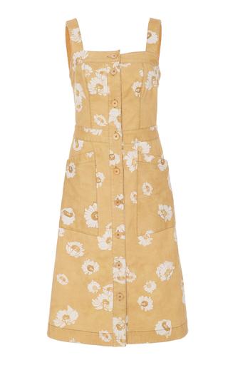 Medium sissa yellow sara structured button dress