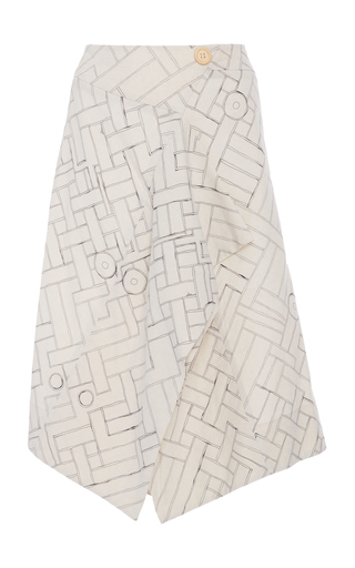 Medium sissa print georgina volant skirt