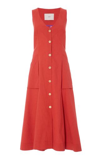 Medium sissa red rusty red sofia pocket dress