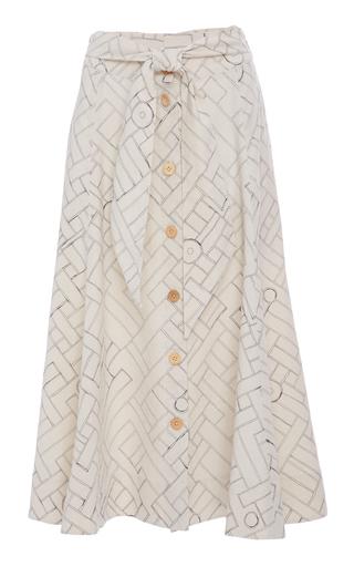 Medium sissa print gabriela button midi skirt