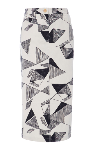 Medium sissa print leandra pencil skirt
