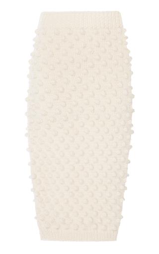 Medium nanna van blaaderen white dot knit tube skirt
