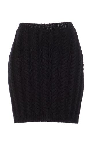 Medium nanna van blaaderen black black mini cable knit skirt