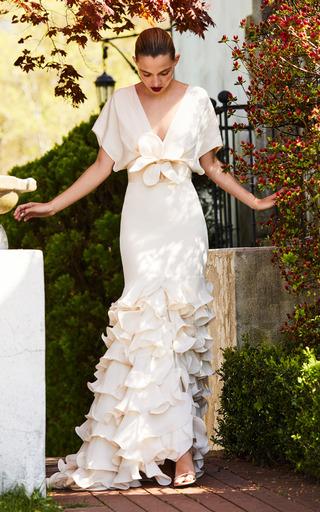 Medium johanna ortiz neutral the una rosa en invierno dress