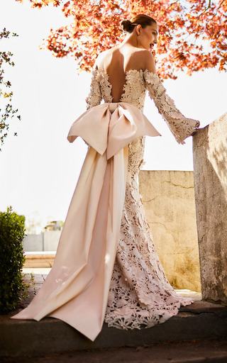 Medium johanna ortiz neutral the atardeceres sevillanos dress