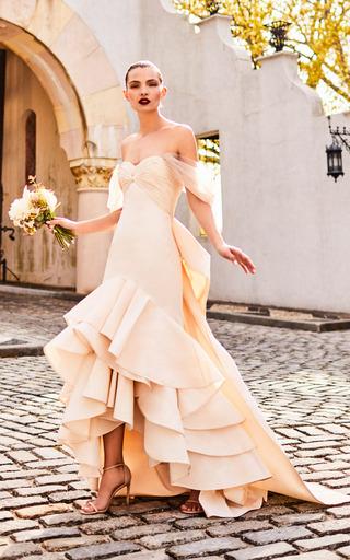 Medium johanna ortiz neutral the noches de andalucia dress