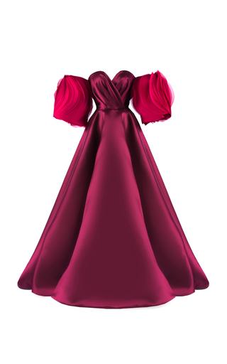 Medium mark bumgarner burgundy vera gown