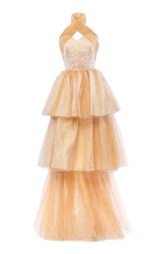 Medium mark bumgarner gold lana gown