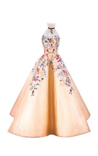 Medium mark bumgarner gold belle gown