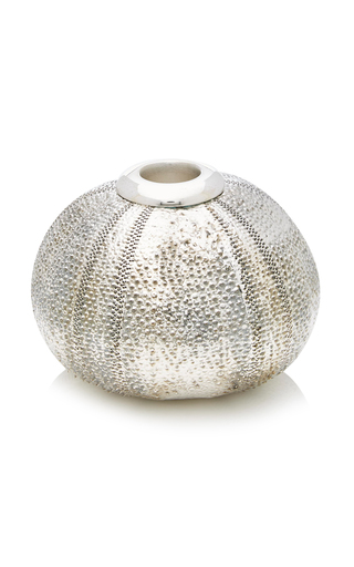 Medium creel gow silver large sea urchin candle holder