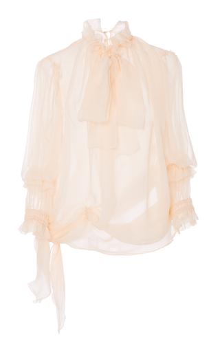 Medium amelia toro pink neck tie silk blouse