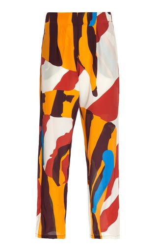 Medium vanda jacintho print printed crepe de chine pants