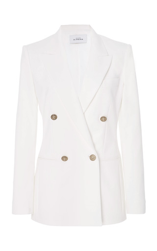 Medium maison di prima white manuela double breasted blazer