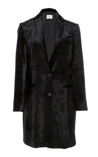 Medium maison di prima black clara velvet coat