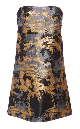 Medium maison di prima metallic selena strapless metallic dress