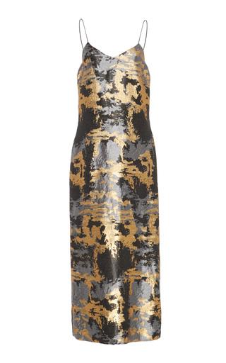 Medium maison di prima metallic karine slip dress