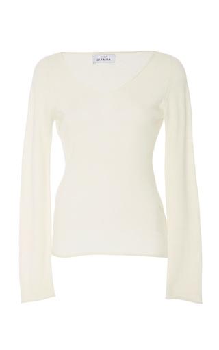 Medium maison di prima white anna scoop neck top