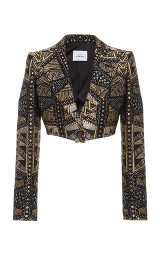Medium maison di prima multi bolero jacquard jacket