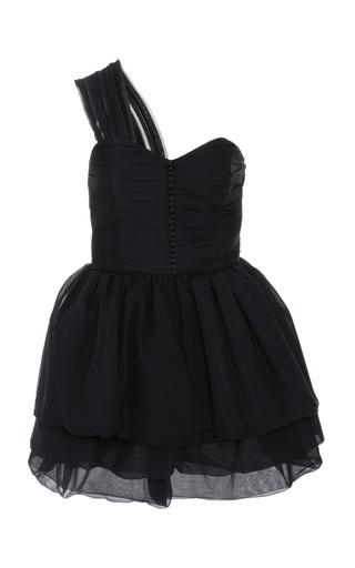 Medium maison di prima black giada one shoulder dress