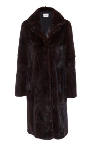 Medium maison di prima brown olivia mink fur coat