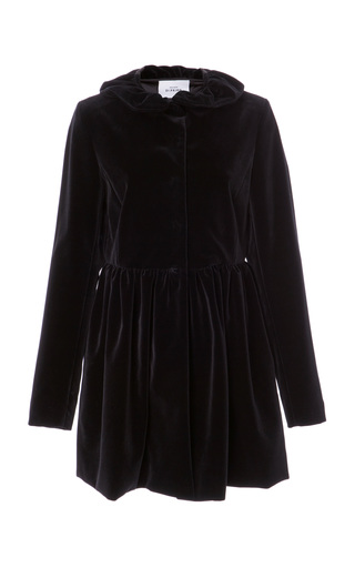 Medium maison di prima black romina velvet coat