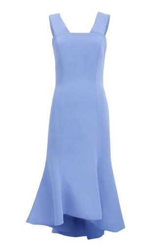 Medium ginger smart blue carmen fluted midi dress