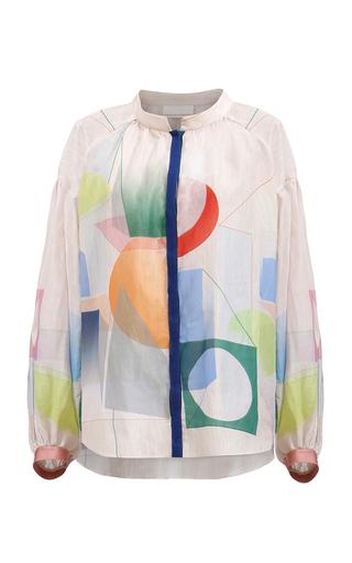 Medium ginger smart print niki bishop blouse