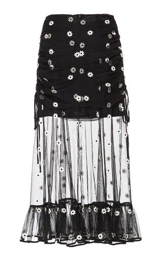 Medium alice mccall black le lady overlay midi skirt
