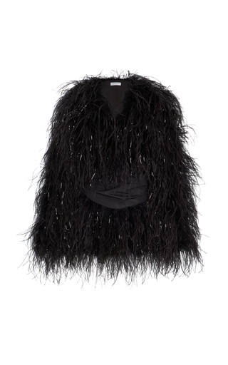 Medium alice mccall black lady bird feather coat