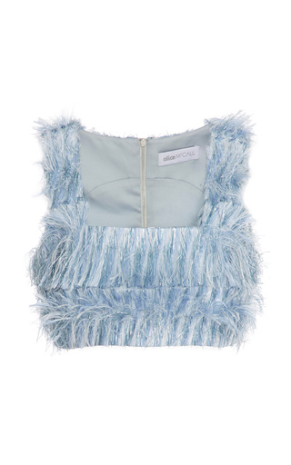 Medium alice mccall blue one for my baby feather crop top