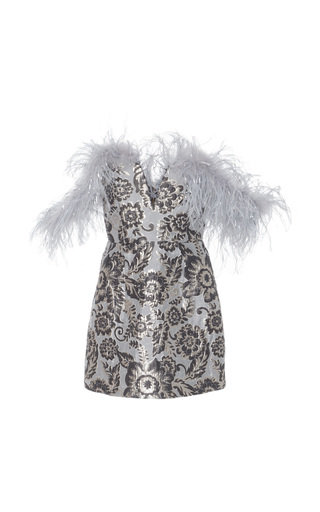 Medium alice mccall blue pop goes the party bustier feather dress