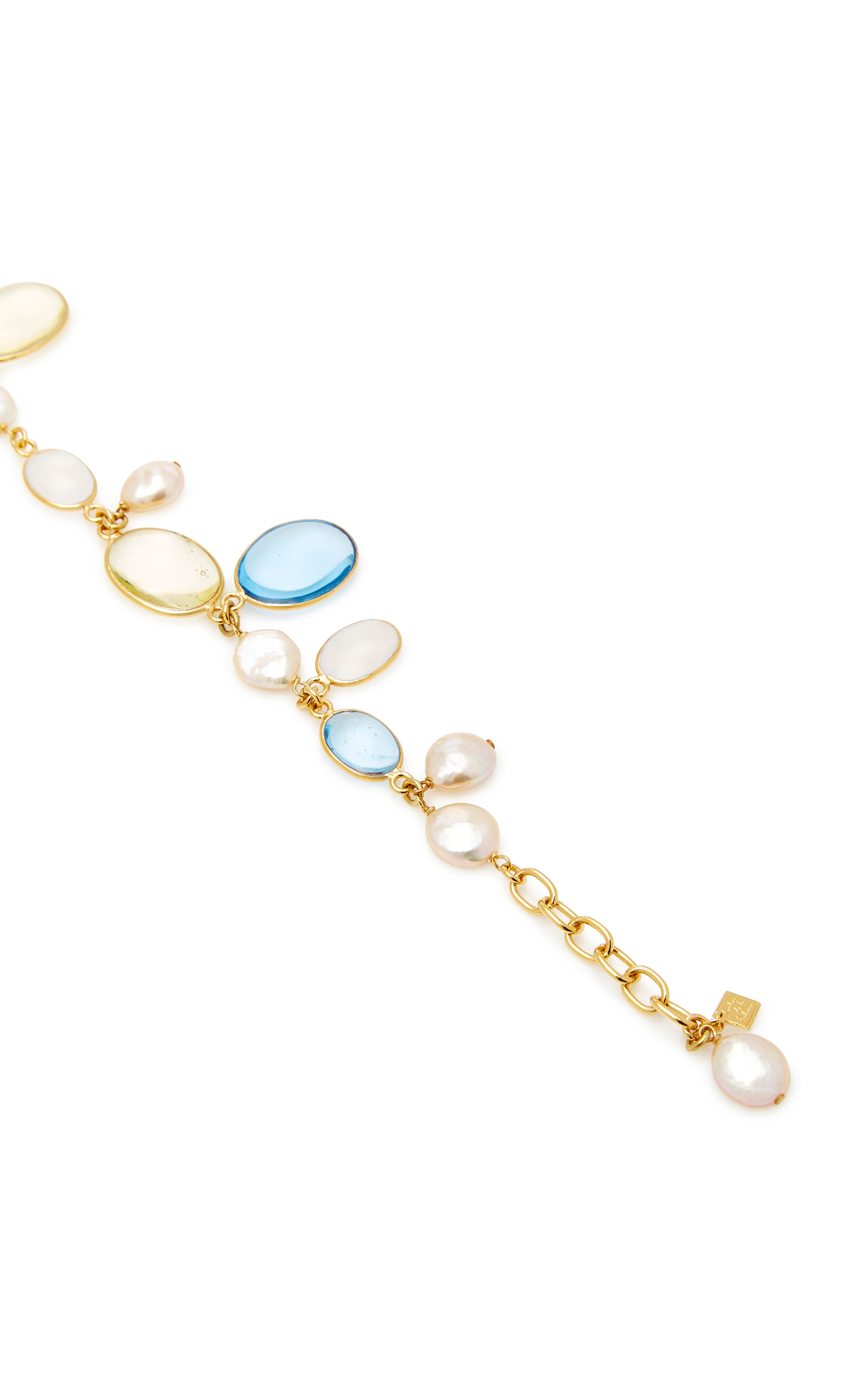 Pebble and Pearl 24K Gold-Plated Crystal Bracelet Loulou De La Falaise 85abGa