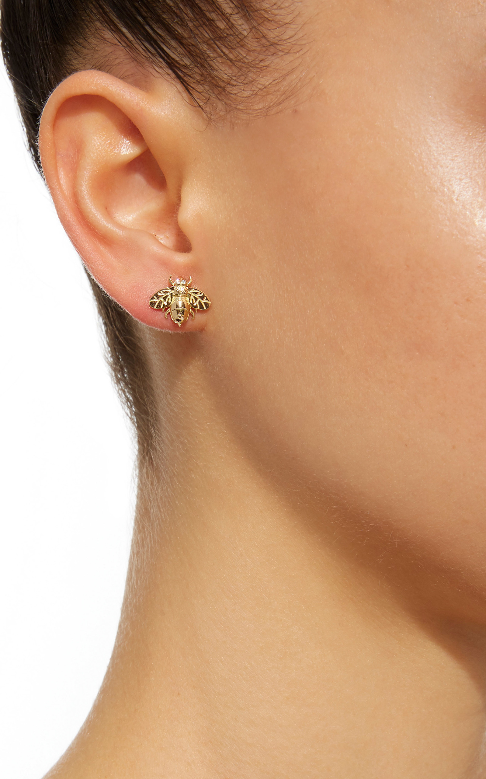 Small Bee Single Stud Earring Brent Neale