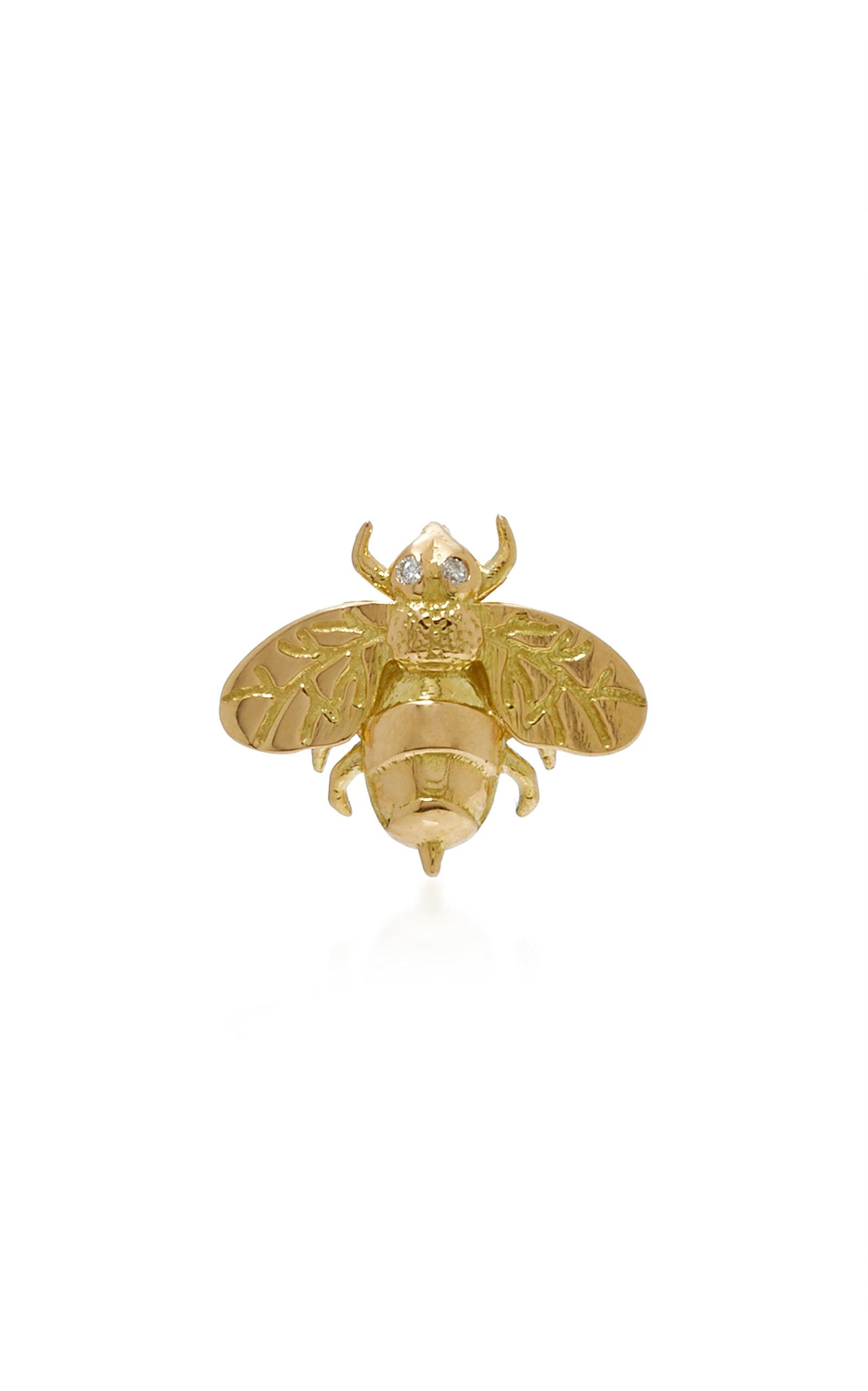 Small Bee Single Stud Earring Brent Neale 4o1bq1F4