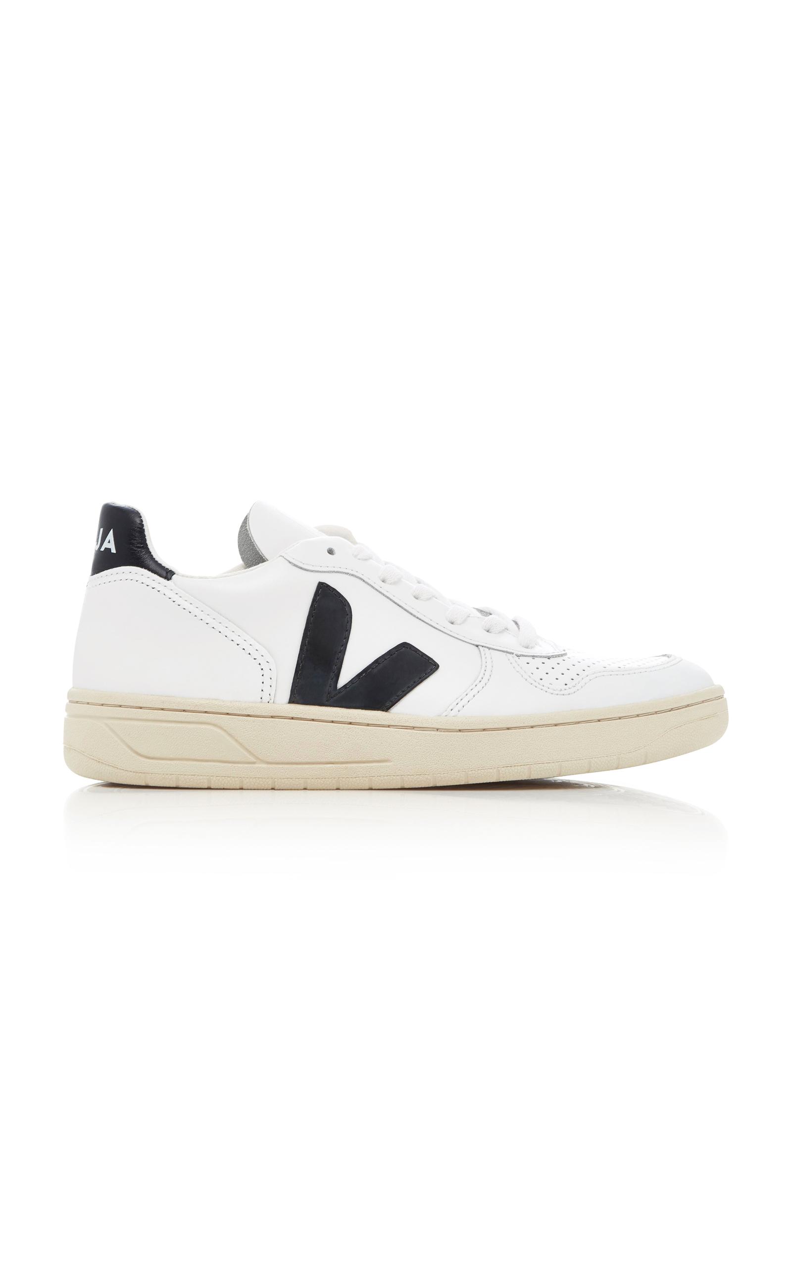 VEJA | VEJA V10 Leather Sneakers | Goxip