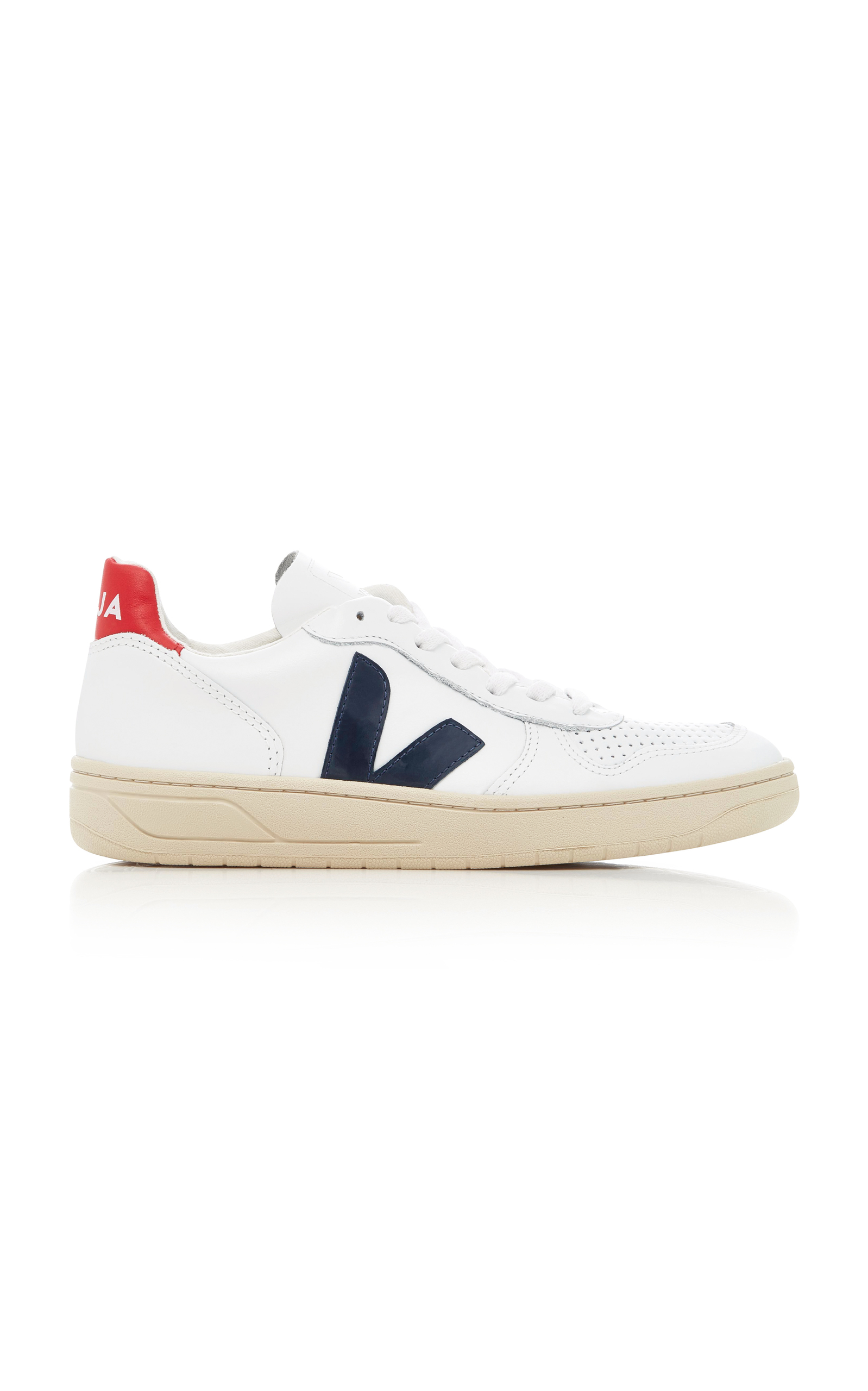 VEJA | VEJA V10 Nautico Leather Sneakers | Goxip